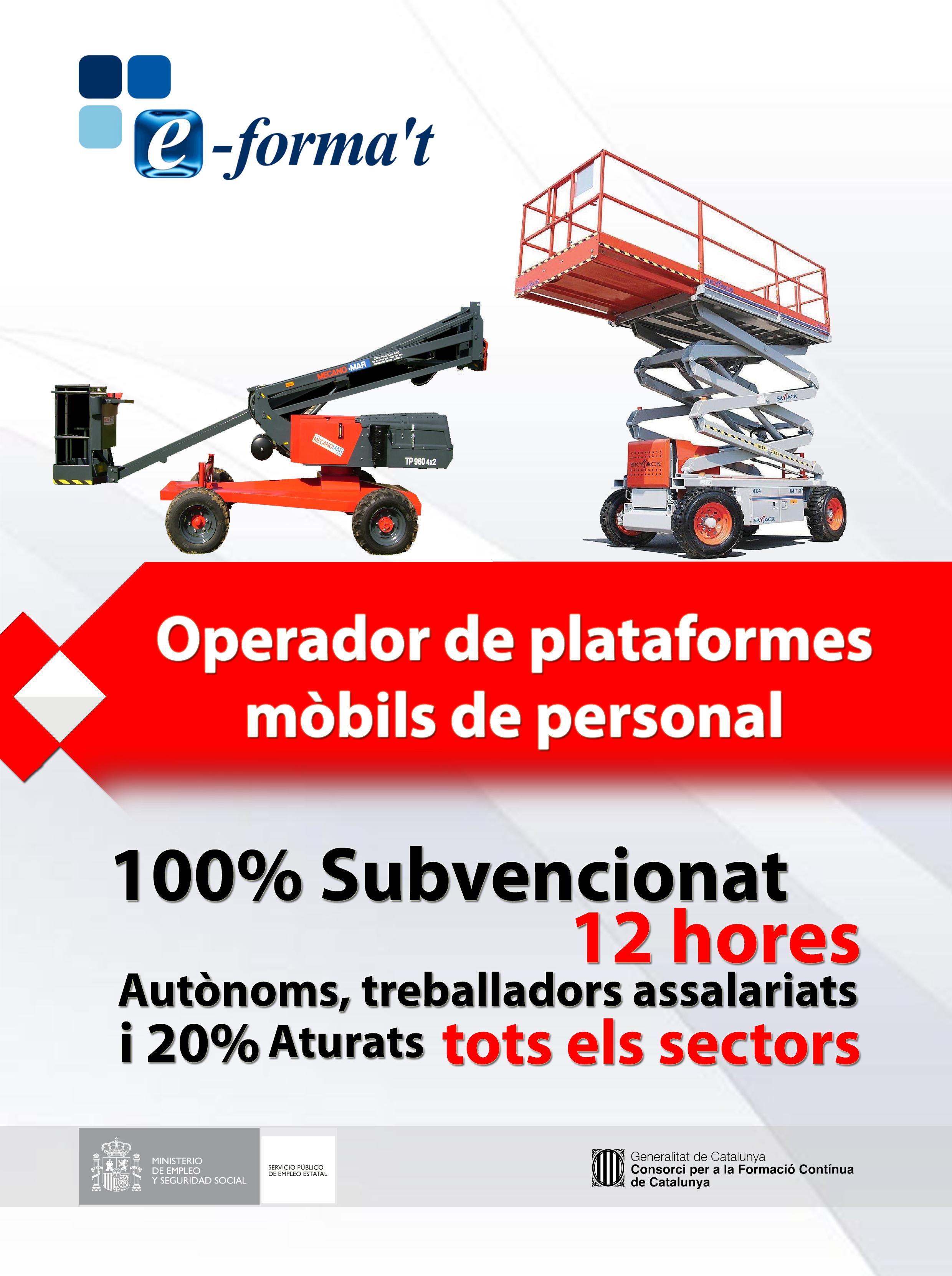 Operador de plataformes mobils de personal