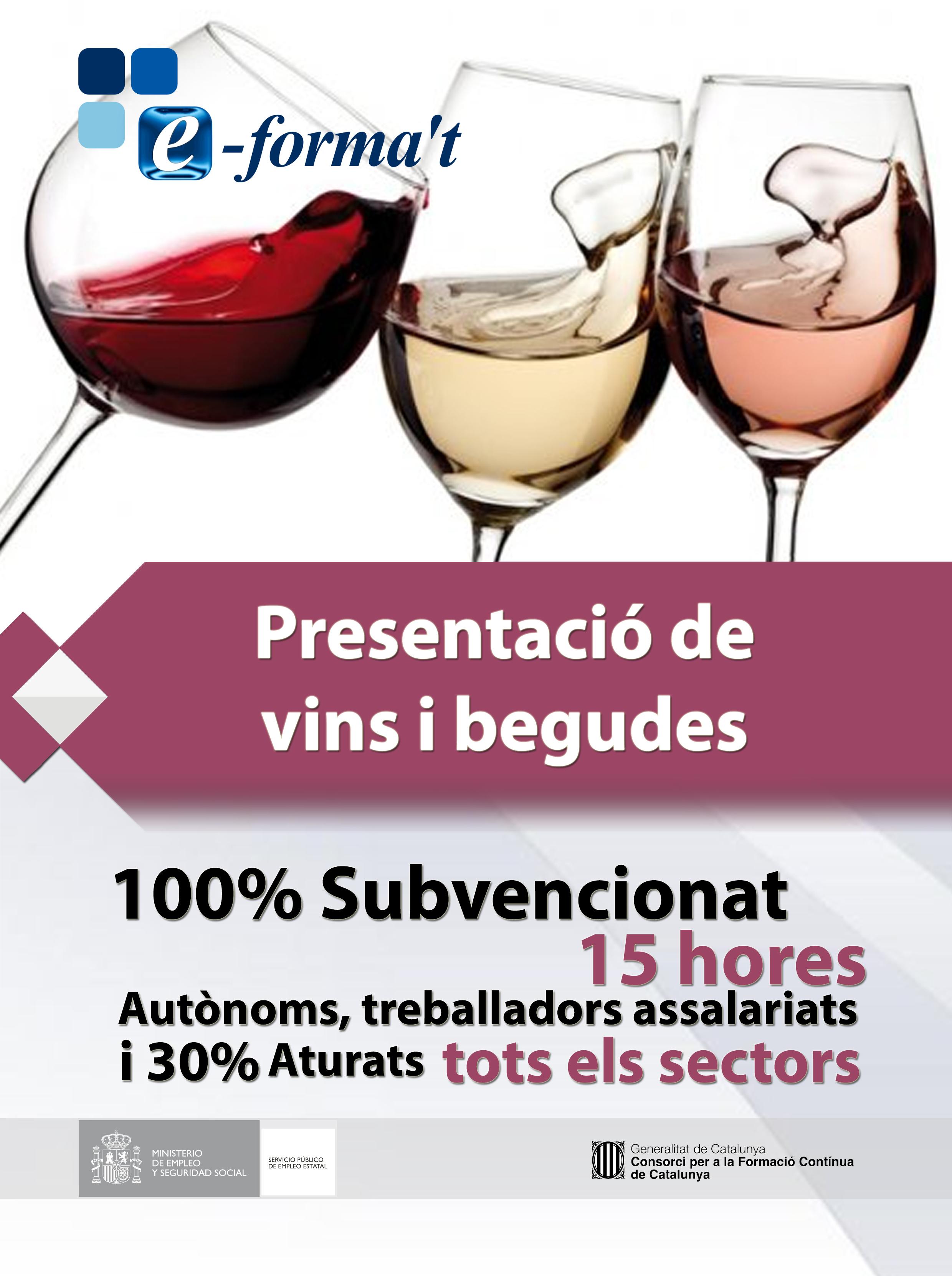 presentacio de vins i begudes